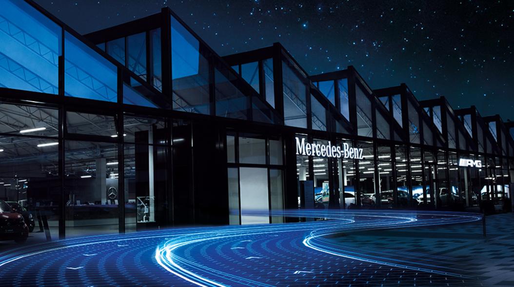 mannheim 23 millionen euro investition mercedes benz niederlassung nach umbau neu er ffnet. Black Bedroom Furniture Sets. Home Design Ideas