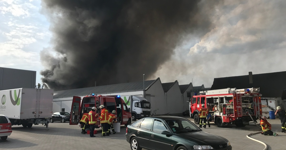 Grossbrand In Ladenburg