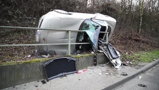 Unfall B36 Gestern
